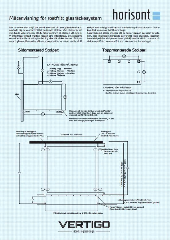Dokument - Horisont mätanvisning