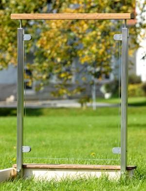 Fyrkantigt glasräcke - Klarglas