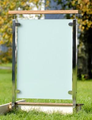 Fyrkantigt glasräcke - Frostat glas