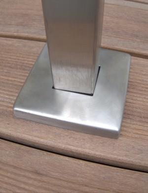 Fyrkantigt glasräcke - Toppmonterad stolpe